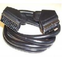Buy cheap 21p transparent blue scart cable product