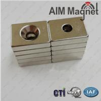 "Buy cheap Countersunk Magnets Neoymium 1/2"" x 1/2"" x 1/4"" thick product"