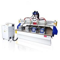 China ELE - 2015 4 spindles 3d wood carving cnc router with 4 rotary devices on sale