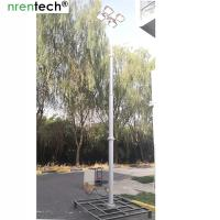 Buy cheap 6m remote control pan tilt pneumatic telescopic mast light-4x1000W halogen-inside electric wire mast product