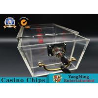 Buy cheap Durable Crylic + Metal Small Lockable Cash Box , Custom Cash Drop Tip Box product