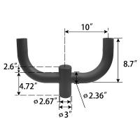 Buy cheap Pole Tenon Adapter Lamp Accessories 180 Degree Twin Spoke Bracket Installation Parts product