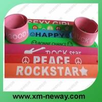 hot selling silicone slap bracelet