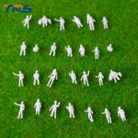 China 1:200 architectural scale model ABS plastic 0.8 cm white figures for model train railway layout on sale