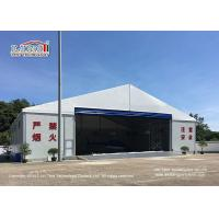 Buy cheap 25m Width Aluminum Frame Waterproof And Flame Retardant Cover Hangar Tent With Auto Roll Up Door from wholesalers