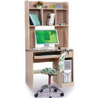 China Wooden Computer Desk, Computer Table with Book Shelf (HQ-888H) on sale