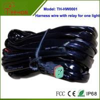 Buy cheap High quality Automobile Harness Wire with Relay and Deutch connectors for 1 LED light product