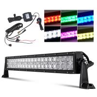 China 7D Reflector RGB Led Light Bar 12 / 22 Inch Over 50000 Hours Working Life on sale