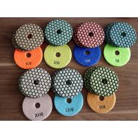 Buy cheap two kinds 4inch 7steps dry polishing pad, honey cone for granite, colorful and green from wholesalers