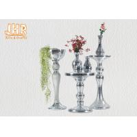 Buy cheap Silver Mirror Mosaic Fiberglass Pedestal Plant Stand Round Telephone Table product