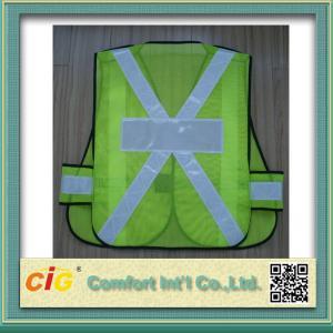 China EN20471 and CE Standard LED Reflective Safety Vests , Orange Reflective Security Clohting on sale