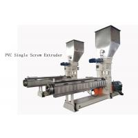 Buy cheap custom PVC Single Screw Extruder neader Hot Cutting Pelletizing System product
