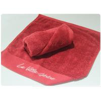 Buy cheap Red Color Bath Towel Set Face Towel Hand Towel Bath Towel for Hotel Spa Beach product