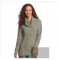 WOMEN Thick sweater mixed line pile collar sweater knit dress  high quality sweater