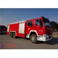 Buy cheap Departure Angle 12° Fire Pumper Truck , Tanker Fire Truck With Pressure 1.0MPa Fire Monitor product