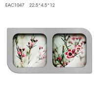Buy cheap Handmade Mirrored Picture Frames Two Pcs / Concrete Personalized Picture Frames product