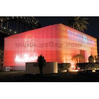 China LED solar power tent inflatable cube  tent on sale