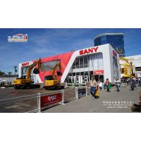 Buy cheap 10X35m white thermo roof cube structure double decker tent used for Sany exhibition VIP room with Sany Sign advertising from Wholesalers