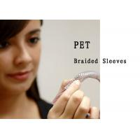 Quality Flame Resistant PET Expandable Braided Sleeving High Strength Smooth Surface for sale