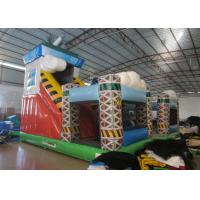 Buy cheap Colorful spaceship inflatable fun city / inflatable amusement park for sale product