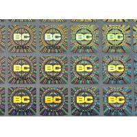 Buy cheap Custom holographic self adhesive destructible label with serial numbers printing product