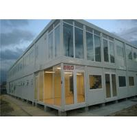 Buy cheap Industrial Flat Pack Container HouseLarge Glass Decoration Flat Pack Prefab House product