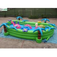 Buy cheap Toddlers Garden Inflatable Games With Horse And Turtle , Green / Blue / Pink product