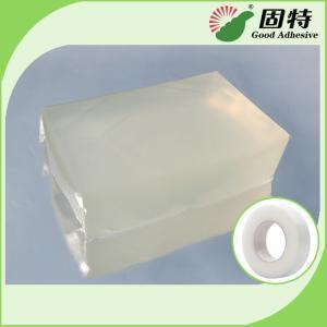 Buy cheap Colorless transparent Block Pressure Sensitive Hot Melt Glue , Colorless Transparent Medical Tape Adhesive Hot Melt product