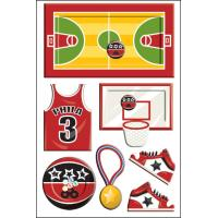 China Customized Shaker Sticker for kids Offset printing basketball sports on sale