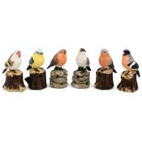 China Polyresin birds with sensor, muscial birds on sale