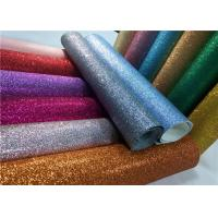 """Quality Decoration 50meters One Roll PU Glitter Fabric Synthetic Leather Material With 54"""" Width for sale"""