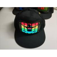 Buy cheap sound-Activated party LED hat Light up music flashing el cap  Wireless voice controller  Hip Hop el hat  With Inverter product