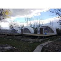 Buy cheap PVDF Or PTFE Geodesic Camping Tent Outdoor Strong Structure Half Sphere product