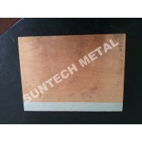 Buy cheap C1020 / A1050 Aluminum Copper Clad Plate , Explosion Cladded Plate from Wholesalers