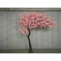 Buy cheap Lifelike Artificial Plastic Trunk Harf Shape Cherry Blossom Tree For Wedding Decoration product