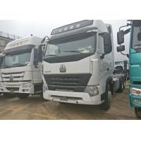 Buy cheap A7 HOWO Tractor Truck , LHD 6x4 Prime Mover Euro2 420 HP Two Berth 12.00R20 Tire product