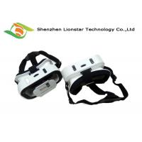 Black And White Virtual Reality Headset Phone Goggles For Watching 3D Movie / 3D Games