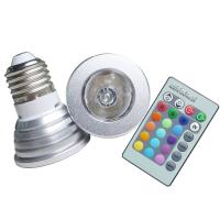 China Remote Control 16 Single Colors 3W E27 Spotlight RGB LED Bulb for Architectural Lighting on sale