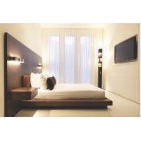 Buy cheap Hotel Furniture Wood panel cleats to wall Headboard with attached Upholstered headboard and two floating nightstands product