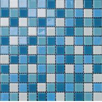 Buy cheap swimming pool tile rainbow blue decoration color mixed product