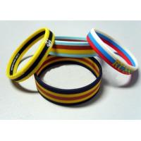 China Screen Printing Elastic Silicone Rubber Bands Soft with Multilayer Colors on sale