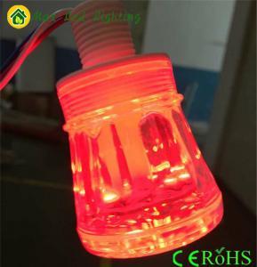 China high cap clear cover 8leds/pc cabochon dream color led pixel light led amusement light on sale