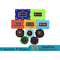 Buy cheap Circular / Square Shape Professional Poker Chip SetWith 25 Pcs In A Shrink Roll product