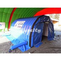 China PVC Tarpaulin Blue Inflatable Air Tent Fire Retardant For Exhibition / Promotional on sale