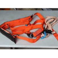 China High Tenacity  Polyester Full Body Safety Belt with Safety Rope / lanyard on sale