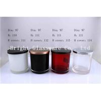 Buy cheap Colorful Glass Candle Holder , Candle Jar With Lid Cover product