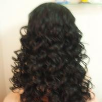 Buy cheap Newly arrival wholesale Fashion Style Black Color Wave Synthetic Lace Front Wigs product