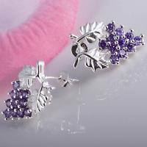 Buy cheap Purple Grape Earrings 1N-E0040 product