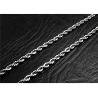Buy cheap Mens Stainless Steel Necklace Chain With A Lobster Claw Clasp , Customized Length from Wholesalers