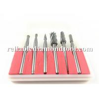 Buy cheap Double Cut Tungsten Solid Carbide Drill Bits Rotary Diamond Dental Burs Set 3mm Shank Fit Dremel product